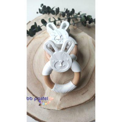 jouet de dentition silicone bois