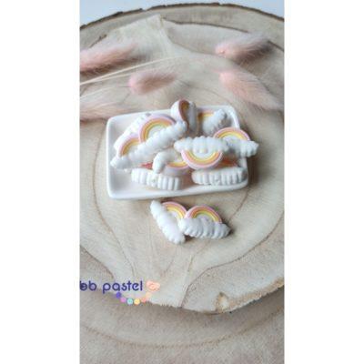 perle arc en ciel silicone